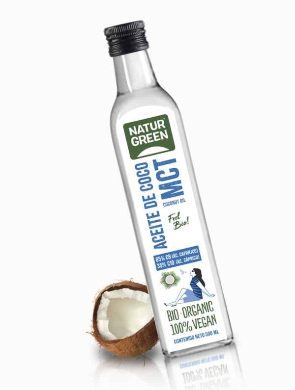 Aceite de Coco Organico front bodegon coco 1060x800px