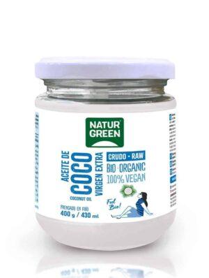 Aceite de Coco crudo 400g Organico front 02 1060x800px